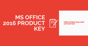 Microsoft Office 2016 Product Key Crack With Serial Key Free Download
