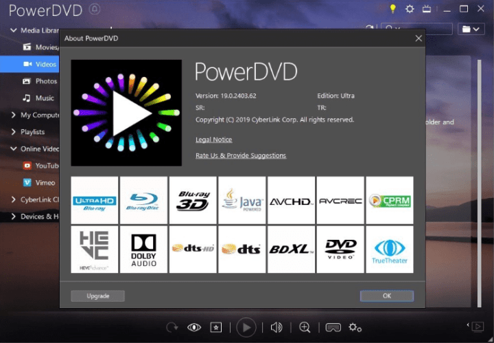 PowerDVD 1519 with Crack 2020 Activation Code